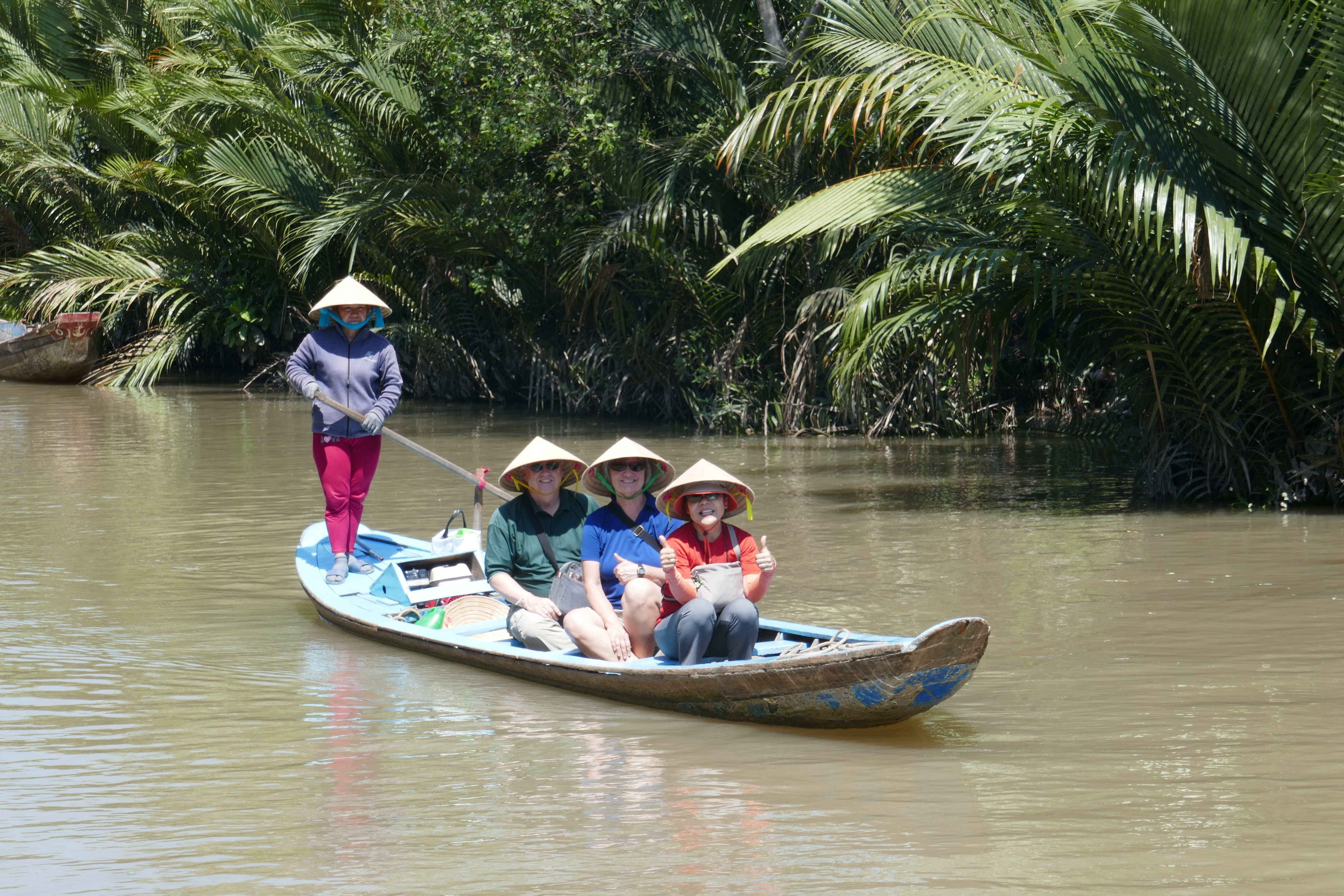 Don And Kathy In Sampan Boat In The Mekong Delta; Oct 19 TC2